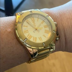 Juicy Couture gold statement watch